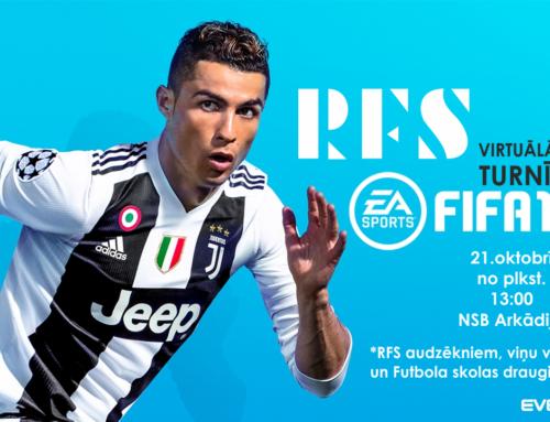Aicinām pieteikties RFS virtuālā futbola turnīram FIFA19